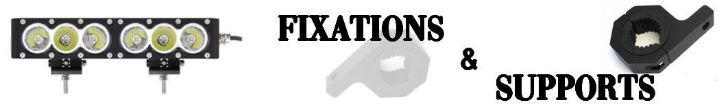 Fixations - Supports pour Optiques et Rampes LED Moto - Quad - SSV