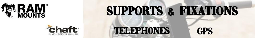 Fixations - GPS - Telephone pour Moto