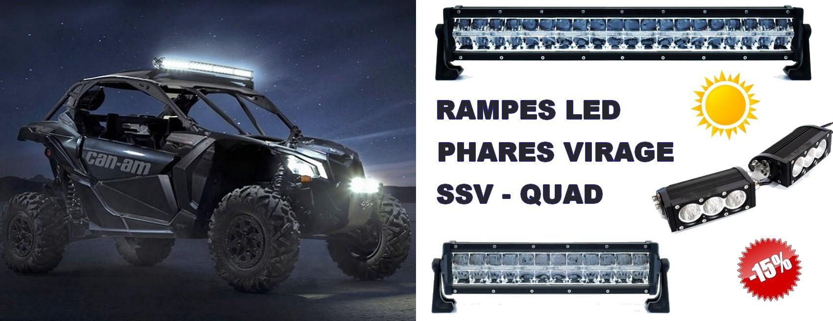 Rampe led SSV - Quad - Can am - Polaris