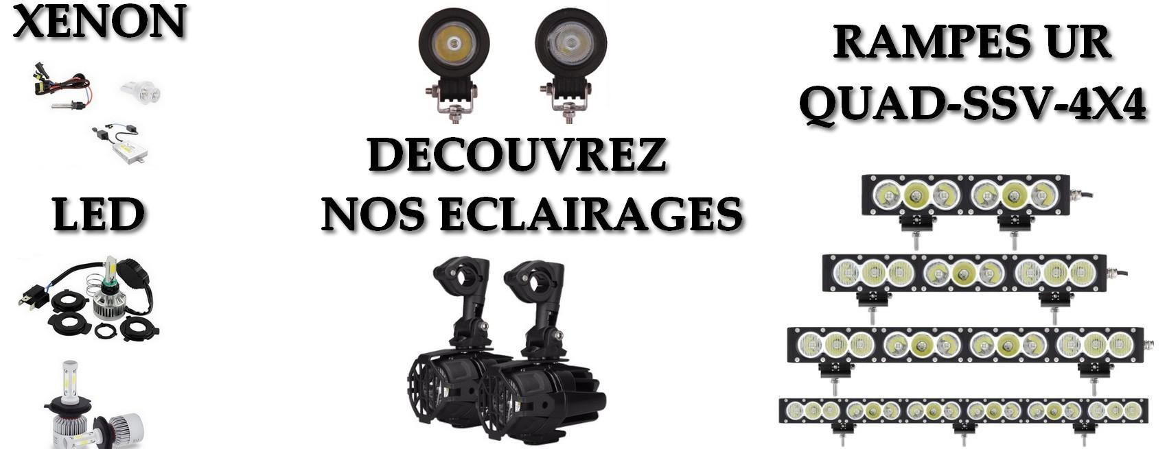 Découvrez sur Univers-riders nos eclairages LED et Xenon moto