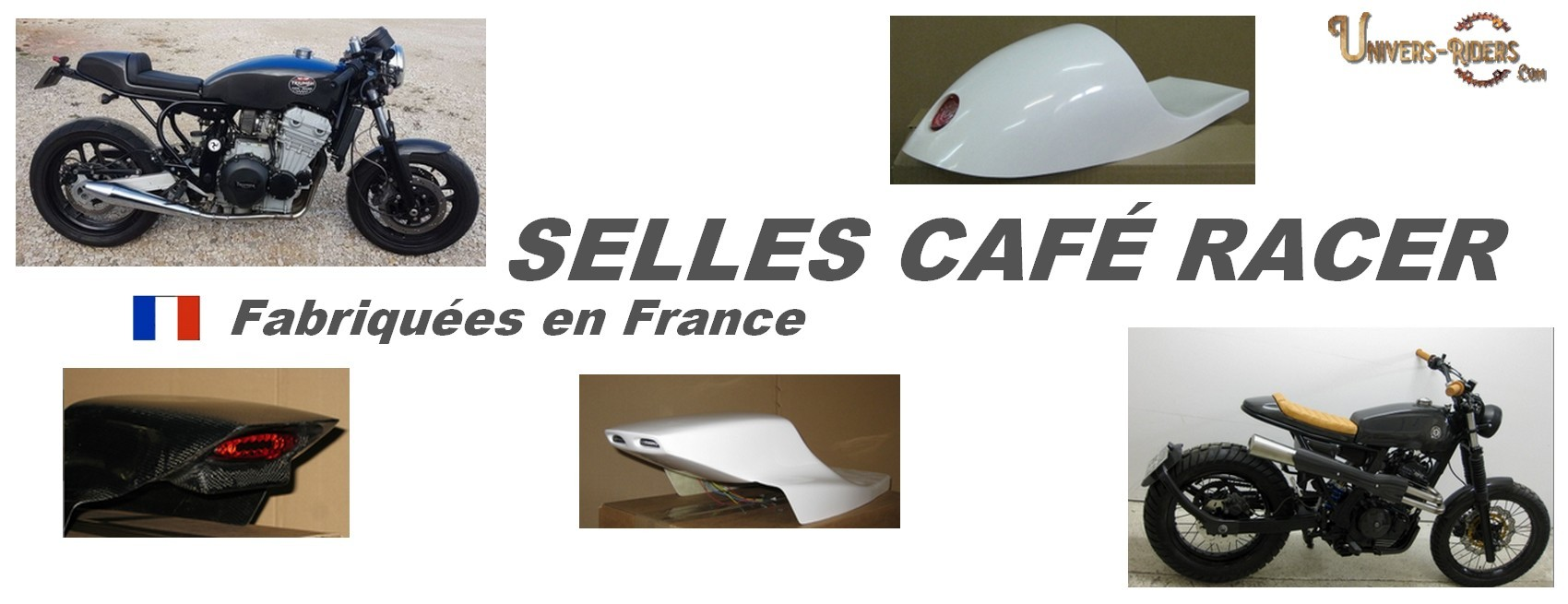 Selles motos cafe racer vintage univers riders