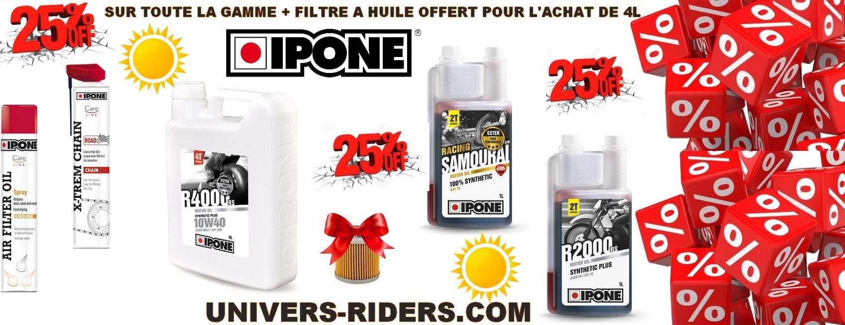 Lubrifiant et huile ipone moto univers riders