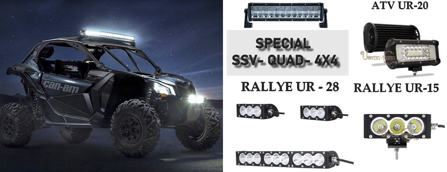 Rampe led SSV - Quad - Can am - Polaris