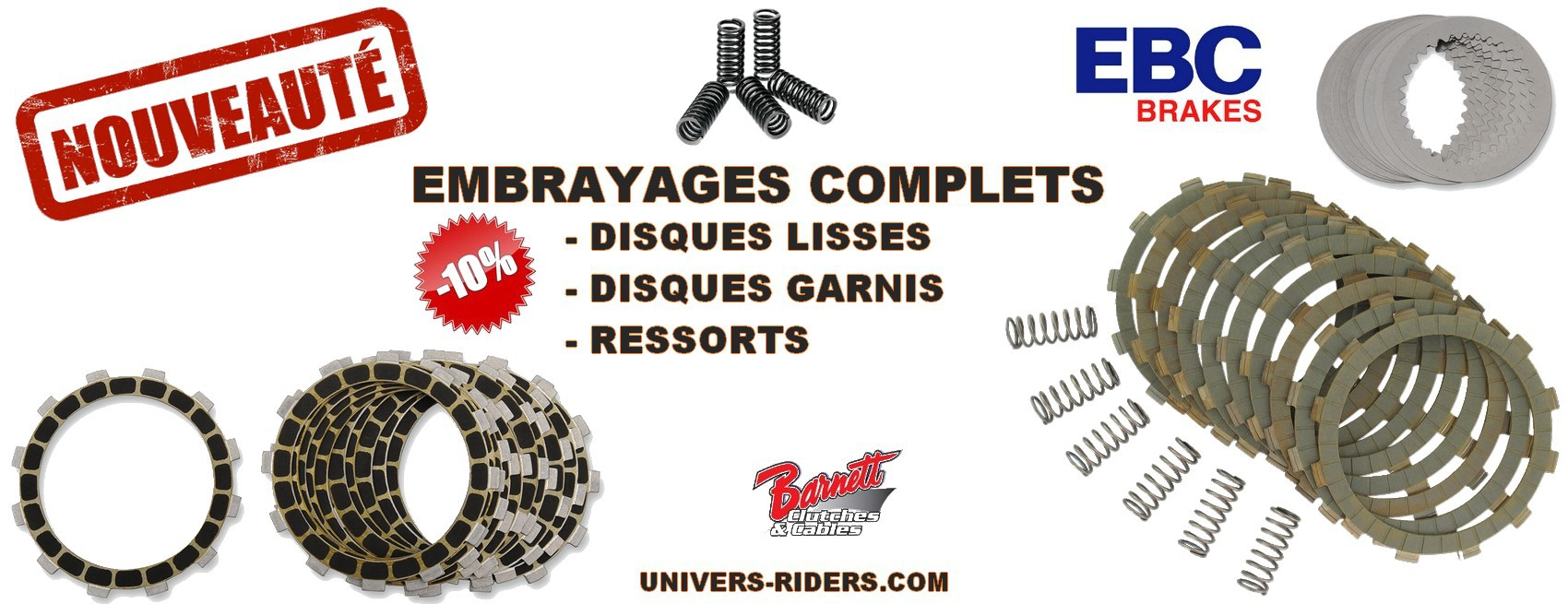 Embrayages Motos Univers Riders
