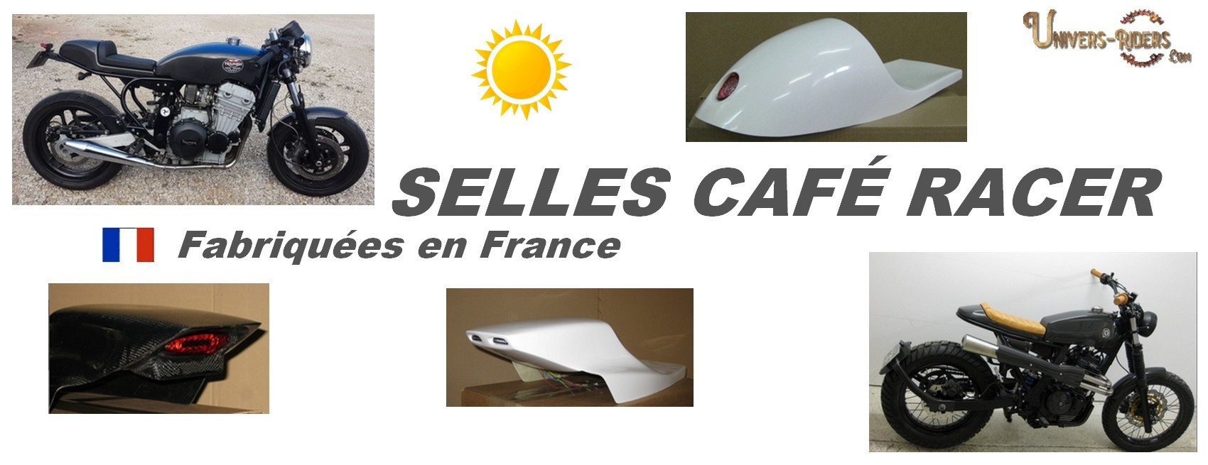 Selles motos poly cafe racer vintage univers riders