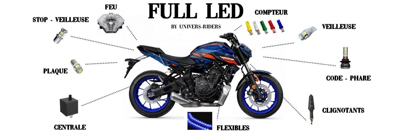 Améliorez l'éclairage de votre moto, auto en optant pour le LED ou xénon.